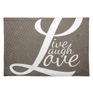 笑い愛は住んでいます ランチョンマット