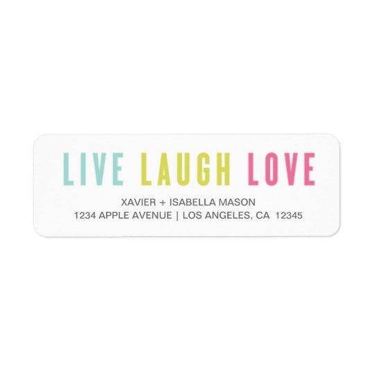 笑い愛は住んでいます 返信用宛名ラベル