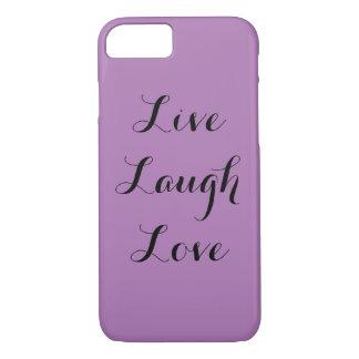 笑い愛は住んでいます iPhone 7ケース