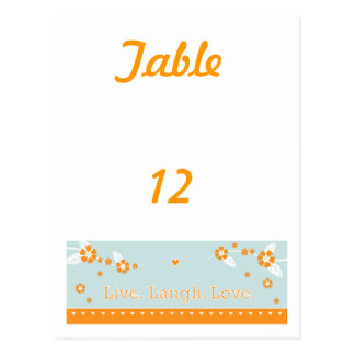 笑い愛テーブル数カードは住んでいます ポストカード