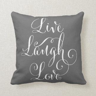 笑い愛装飾用クッション-木炭--は住んでいます クッション