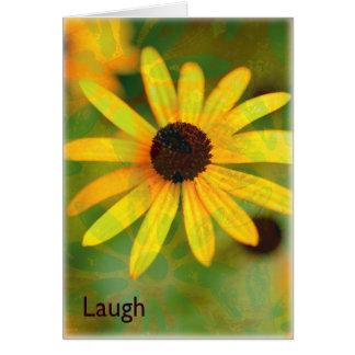 笑い黒によって注目されるスーザン カード