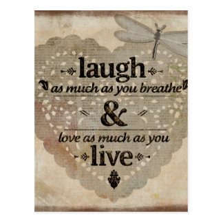 笑い、生きている愛 ポストカード