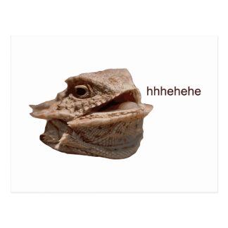笑うイグアナのHeHeトカゲ ポストカード