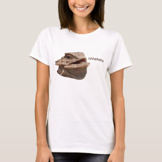 笑うイグアナのHeHeトカゲ Tシャツ