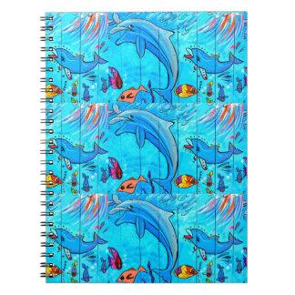笑うイルカの青のノート ノートブック