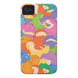 笑うカバの電話箱 iPhone 4 ケース
