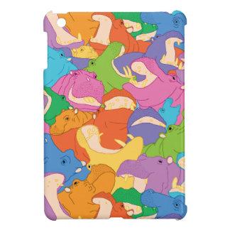 笑うカバのiPadの小型場合 iPad Mini カバー