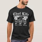 笑うシェフのスカル Tシャツ