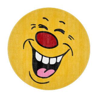 笑うスマイリーフェイスGrumpey カッティングボード