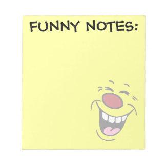 笑うスマイリーフェイスGrumpey ノートパッド