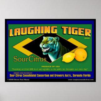 笑うトラの酸っぱい柑橘類ポスター ポスター