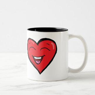 笑うハートのマグ ツートーンマグカップ