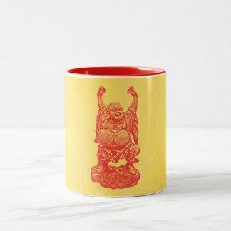 笑う仏(赤い) ツートーンマグカップ