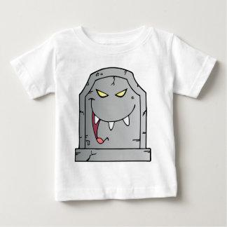笑う墓碑のマンガのキャラクタ ベビーTシャツ