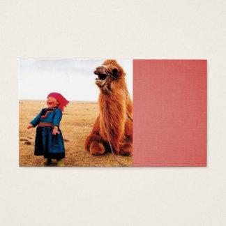 笑う子供および彼女の笑うラクダ 名刺