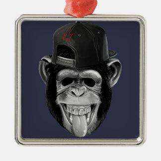 笑う猿 メタルオーナメント