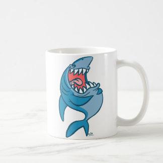 笑う鮫の漫画のマグ コーヒーマグカップ