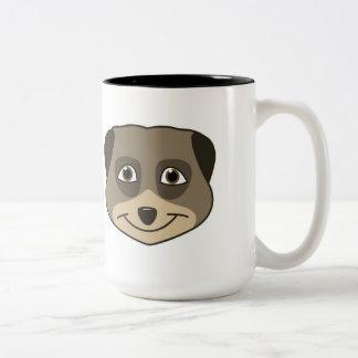 笑うmeerkatの表現 ツートーンマグカップ
