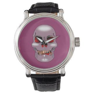 笑ったスカルの腕時計 腕時計