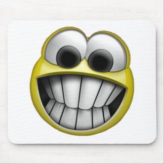 笑った幸せなスマイリーフェイス マウスパッド