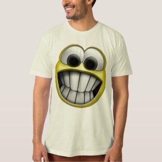 笑った幸せなスマイリーフェイス Tシャツ