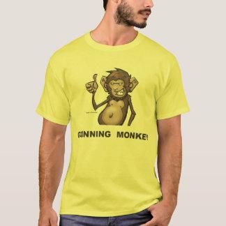 笑った猿のクラシックのティー Tシャツ