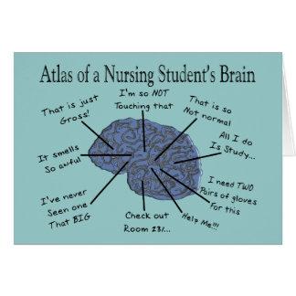 """笑わされるな看護学生の""""頭脳""""のギフト カード"""