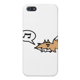 笛を吹くキツネ iPhone 5 CASE