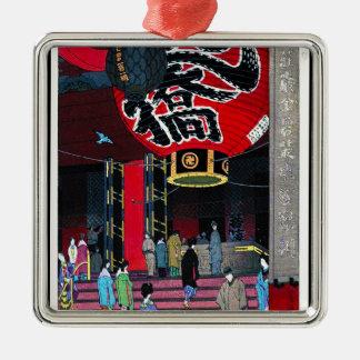 笠松町の大きいランタンのAsakusuの涼しい東洋の寺院 メタルオーナメント