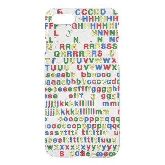 第一次アルファベットのラテン系の手紙ABCのカラフル iPhone 8/7 ケース