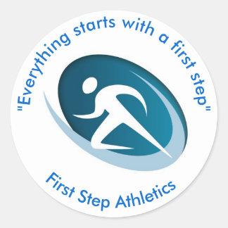 第一歩の運動競技 丸型シール