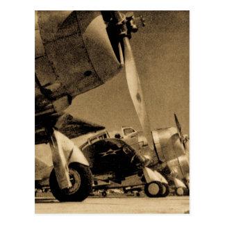 第二次世界大戦のダグラスSBDのDauntless爆撃機の飛行機 ポストカード