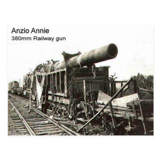 第二次世界大戦の    鉄道銃、Anzioアニー ポストカード