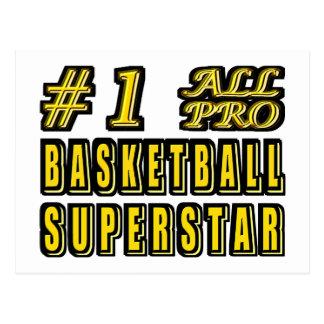 第1すべてのプロバスケットボールのスーパースター ポストカード