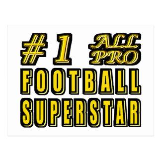 第1すべてのプロ・フットボールのスーパースター ポストカード