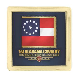 第1アラバマの騎兵隊 金色 ラペルピン