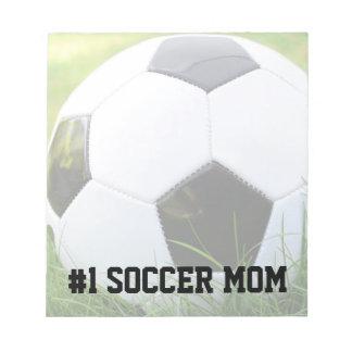 第1サッカーのお母さんのクラシックなサッカーボール ノートパッド
