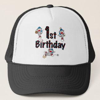 第1ソックス猿の野球の誕生日 キャップ