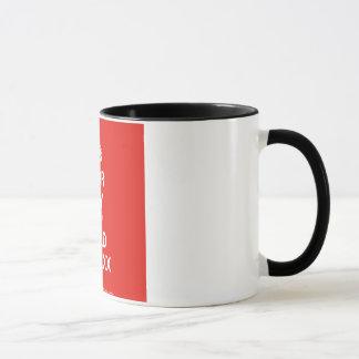 第1パパの黒11のozの信号器のマグ マグカップ