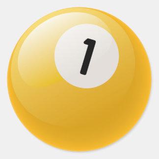 第1ビリヤードボール ラウンドシール