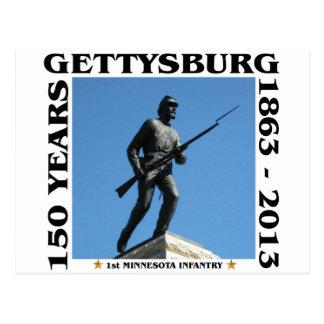 第1ミネソタの歩兵- 150th Gettysburg ポストカード
