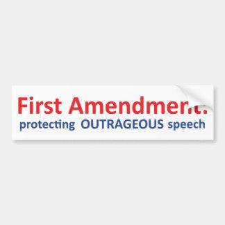 第1修正: スピーチの保護 バンパーステッカー