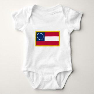 第1南部連合国旗 ベビーボディスーツ