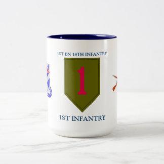 第1大隊の第18歩兵の第1歩兵は襲います ツートーンマグカップ