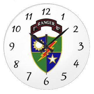 第1大隊-第75レーンジャー連隊-柱時計 ラージ壁時計