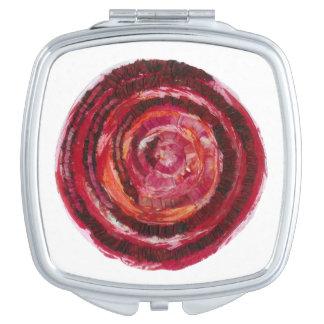 第1根のチャクラの赤い螺線形の生地ペンキ#2