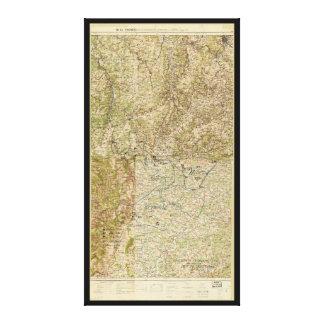 第1次世界大戦第26、第29の及び第82 Divs。 第5隊の地図 キャンバスプリント
