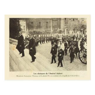 第1次世界大戦、フランスの葬式、オベール海軍大将 ポストカード