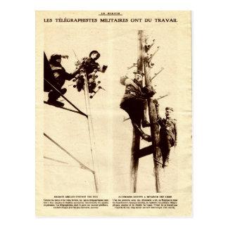 第1次世界大戦、軍のtelegraphists ポストカード